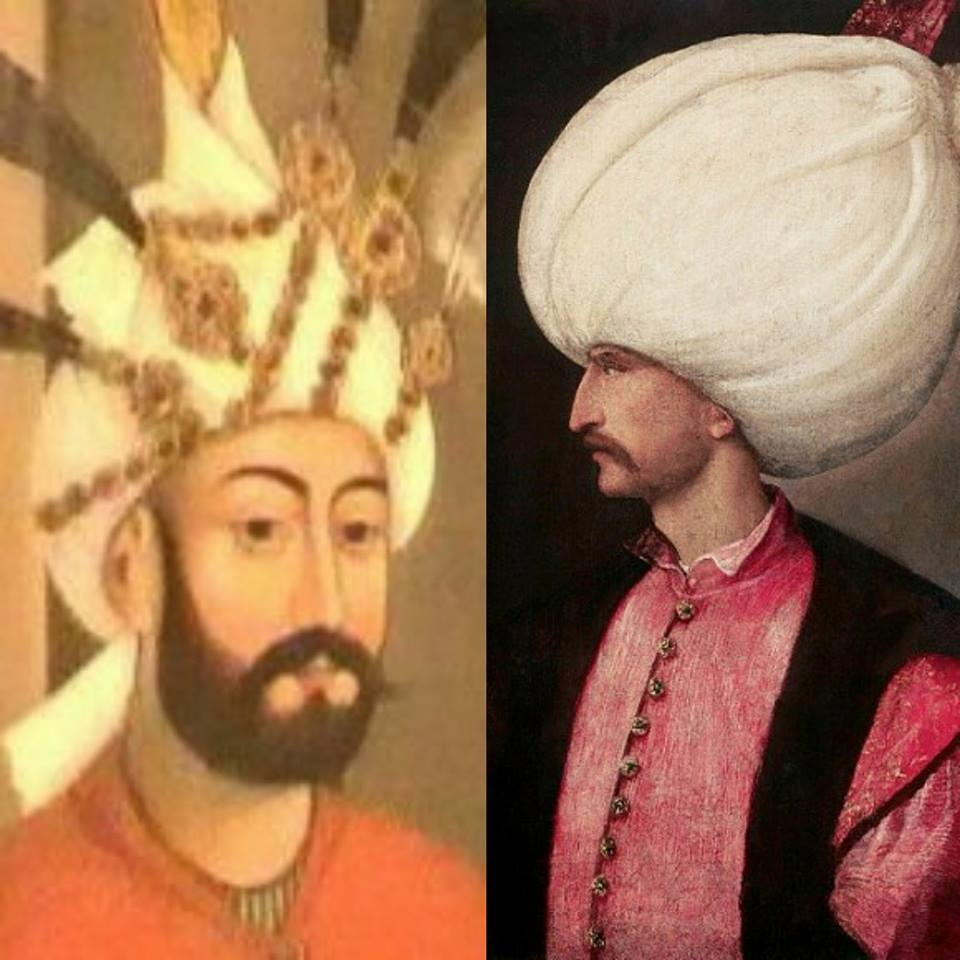 تهماسیب و سلطانی سلیمان قانونی آراسیندا -