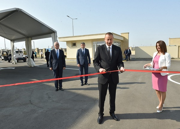 Ilham Aliyev attends opening of Balakhani Industrial Park