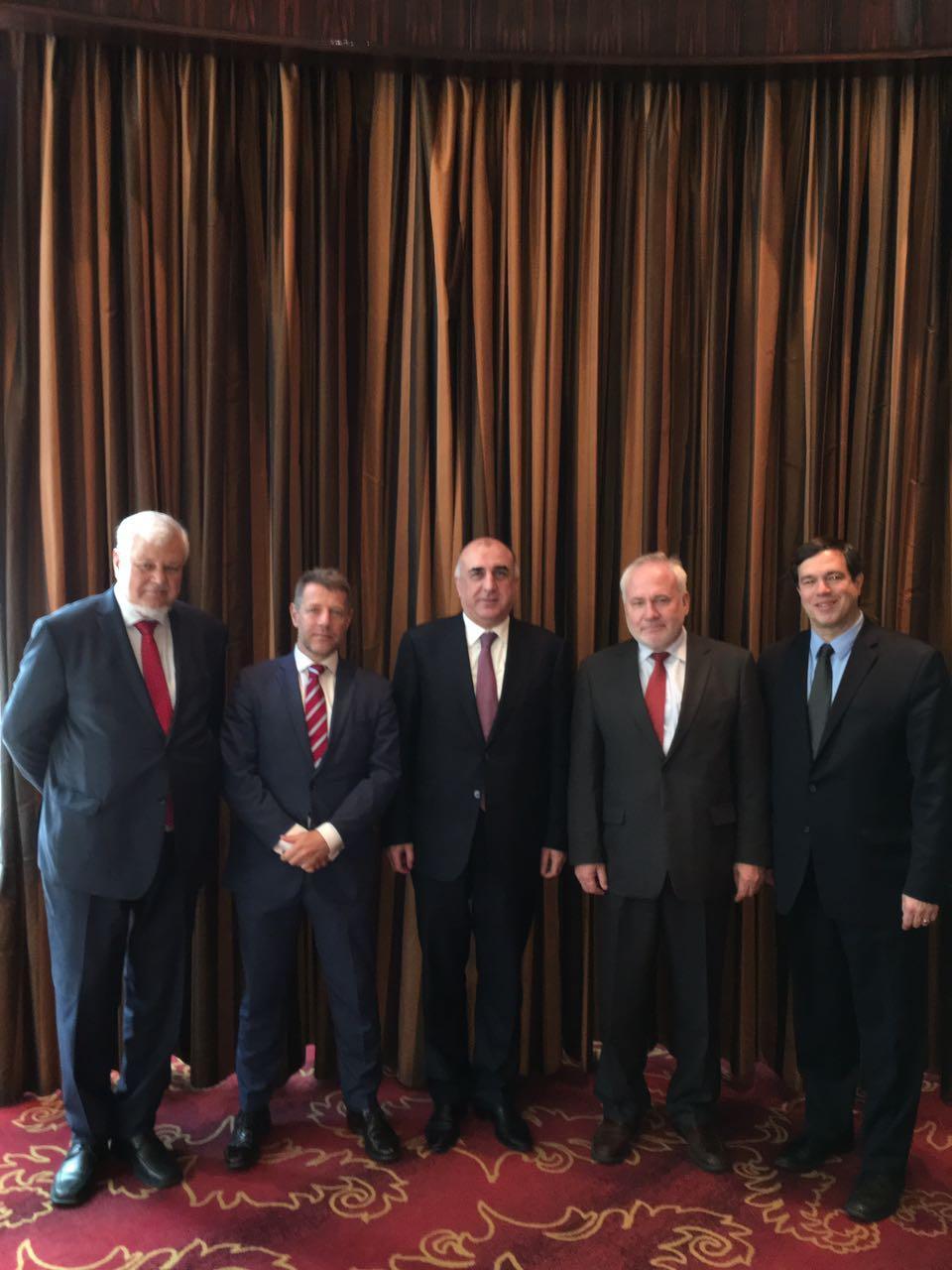 Мамедъяров встретился с сопредседателями МГ ОБСЕ