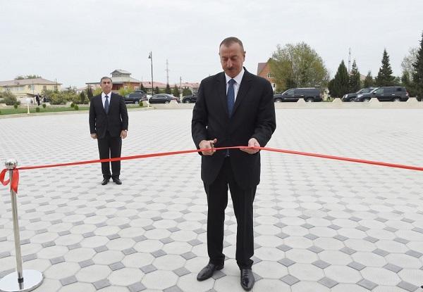 Prezident Salyanda açılış etdi