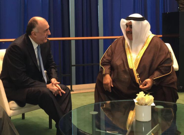 Elmar Mammadyarov met with FM of Bahrain