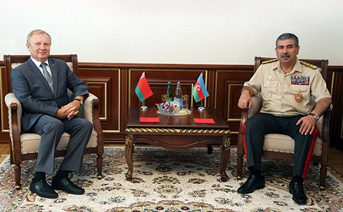 Azerbaijan's Defense Minister meets Belarusian Ambassador
