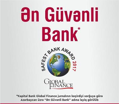 """""""Kapital Bank"""" bu mükafata layiq görüldü"""
