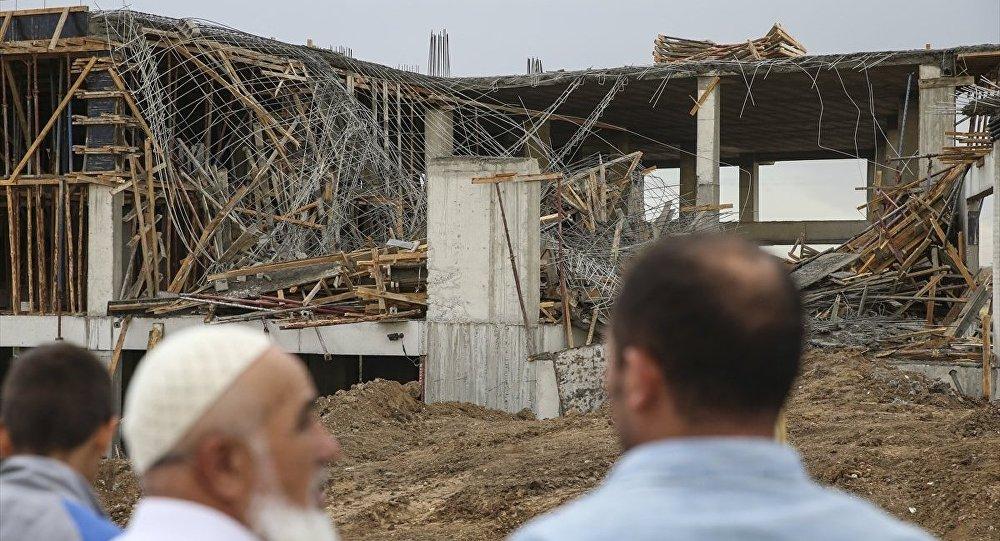 Ankarada bina çökdü: 1 ölü, 1 yaralı