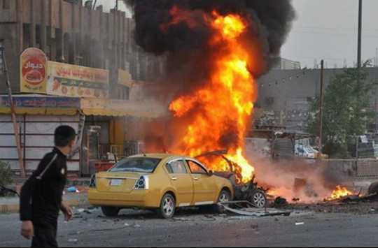 A powerful explosion in Baghdad caused casualties