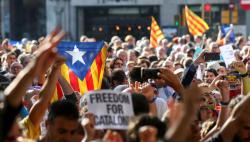Протесты в Каталонии: более 50 задержанных