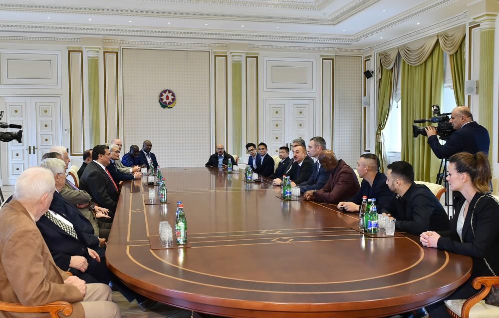 İlham Əliyev Boks Şurasının iştirakçılarını qəbul etdi