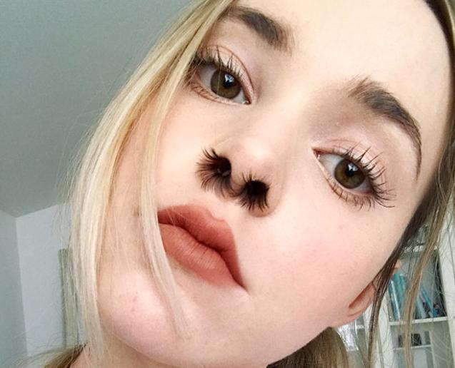 Yeni dəb: burnu tüklü qızlar - Foto