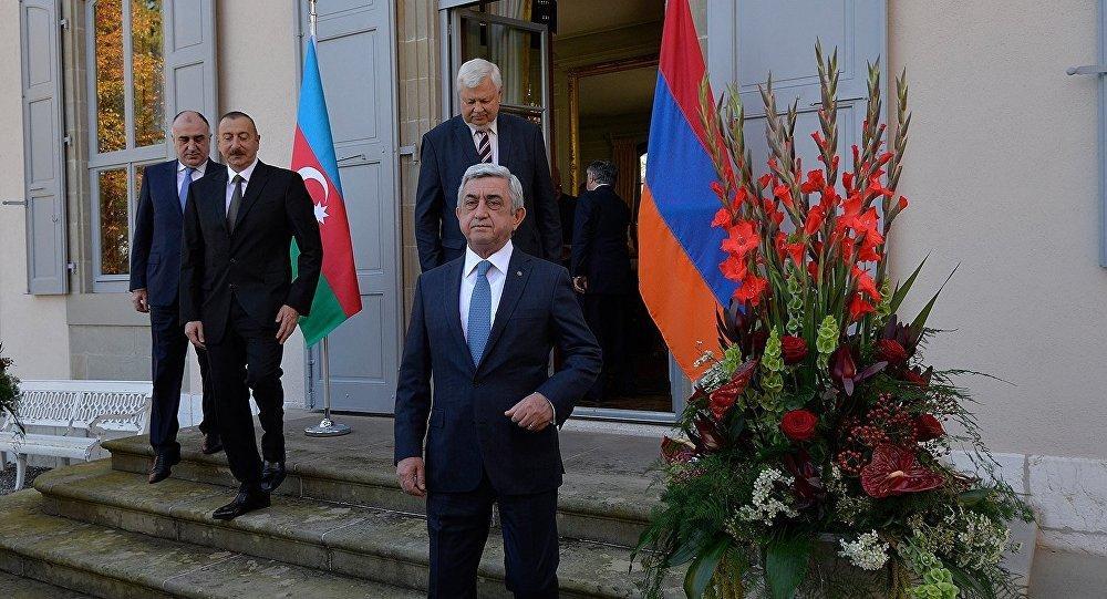 Встреча Алиев - Саргсян завершилась - Фото