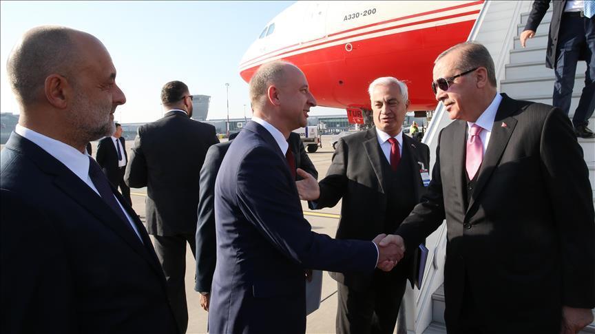 Эрдоган прибыл в Польшу