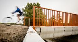 World's first 3D-printed cyclist bridge opens