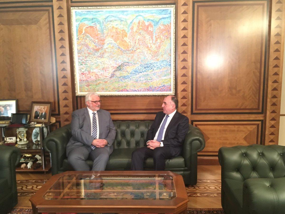 Мамедъяров встретился с главой МИД Польши