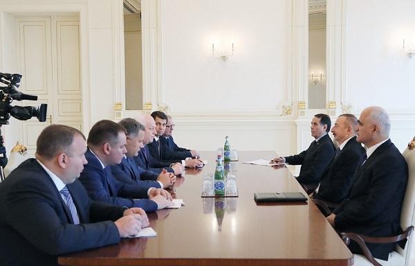 İlham Əliyev Ukraynanın ticarət naziri ilə görüşdü