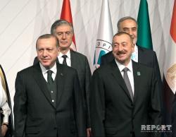 Алиев и Эрдоган на самммите D-8 - Фото