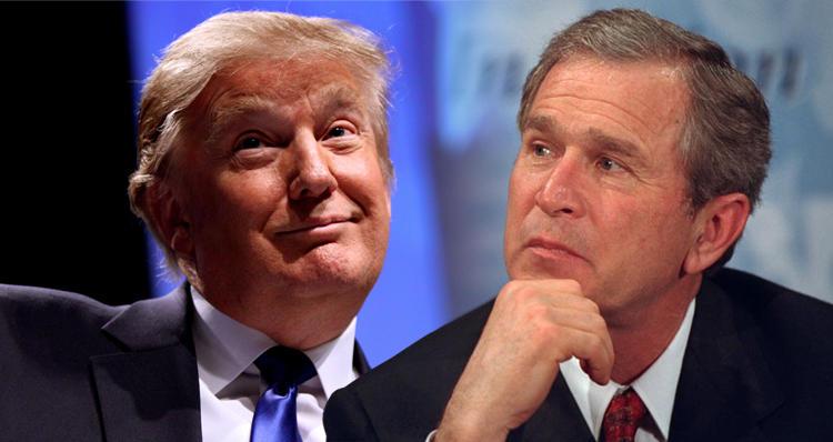 بوش ترامپی تنقید ائتدی
