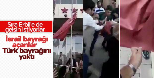 Разъяренные курды срывают флаги Турции и США - Видео