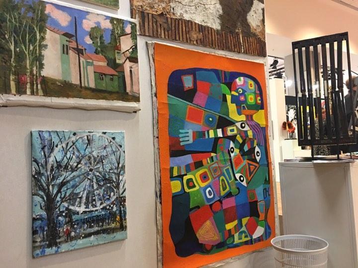 Работы азербайджанских художников на выставке в Лувре