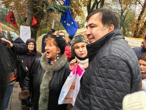 Kiyevdə Saakaşvilinin tərəfdarlarının mitinqi başladı