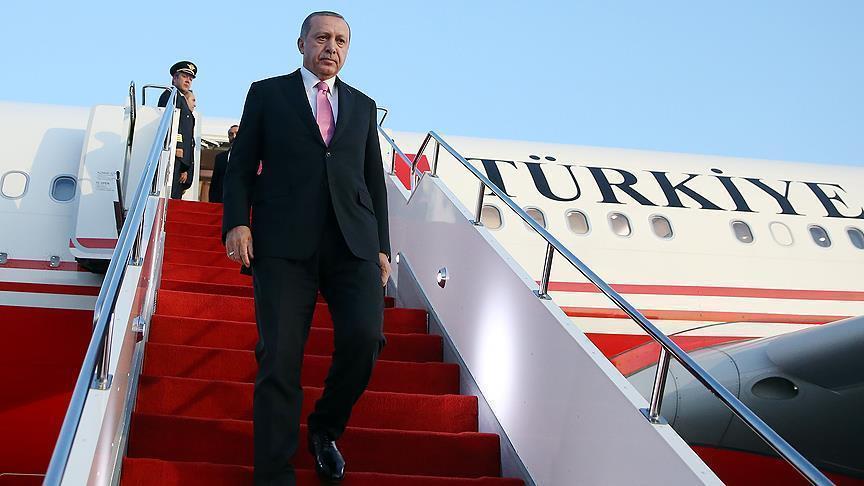 Эрдоган отбыл в Азербайджан