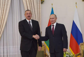 Ilham Aliyev congratulates Putin on landslide victory