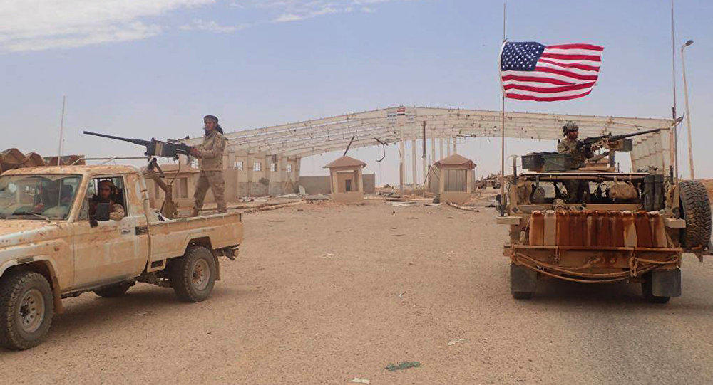 The US base in Syria was also attacked