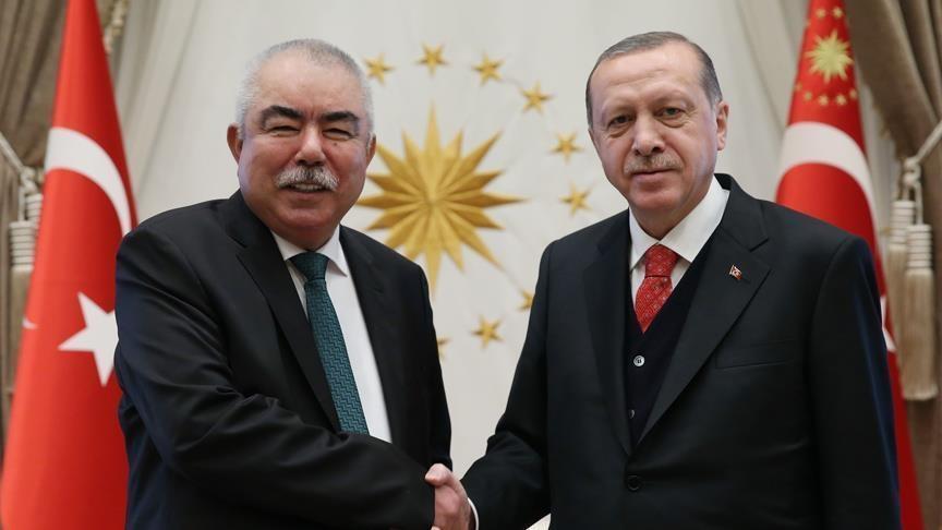 Erdogan meets Afghanistan's Gen. Dostum in Ankara