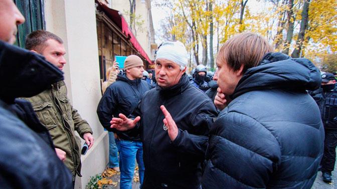 Начальнику полиции Одессы дали по голове