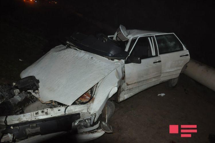 Dəhşətli qəza: 1 polis əməkdaşı öldü, digəri... - Foto