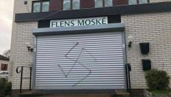Sweden mosque vandalized with swastika painting