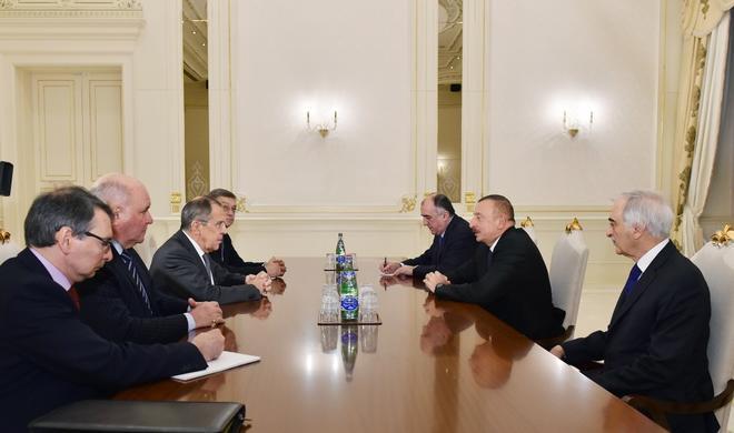 Ilham Aliyev receives Lavrov