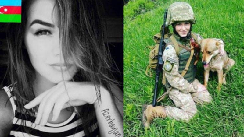 Azərbaycanlı hərbçi qadın partlayışda öldü - Foto