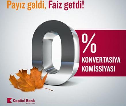 """""""Kapital Bank"""" bu komissiyanı ləğv etdi"""