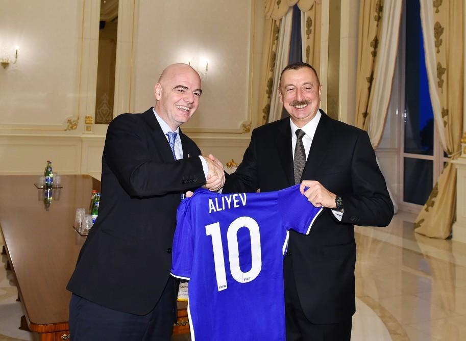 Aliyev receives FIFA president