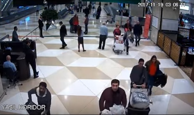 Gömrük hava limanındakı insidentlə bağlı görüntü yaydı - Video