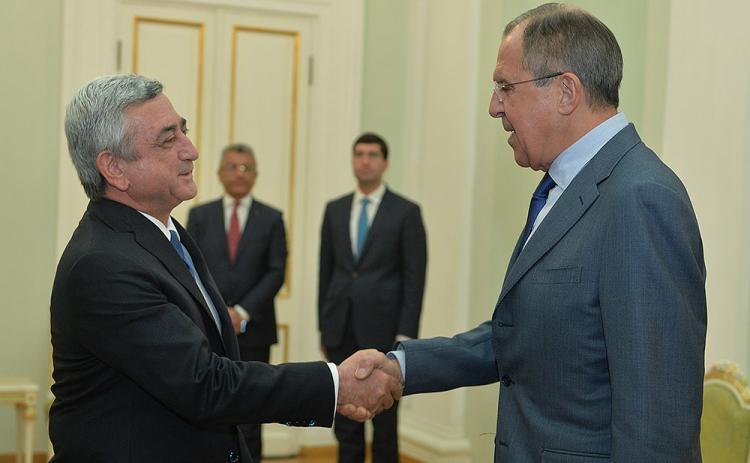 Лавров и Саргсян встретятся сегодня в Ереване
