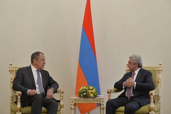 Lavrov met with Sarkisyan
