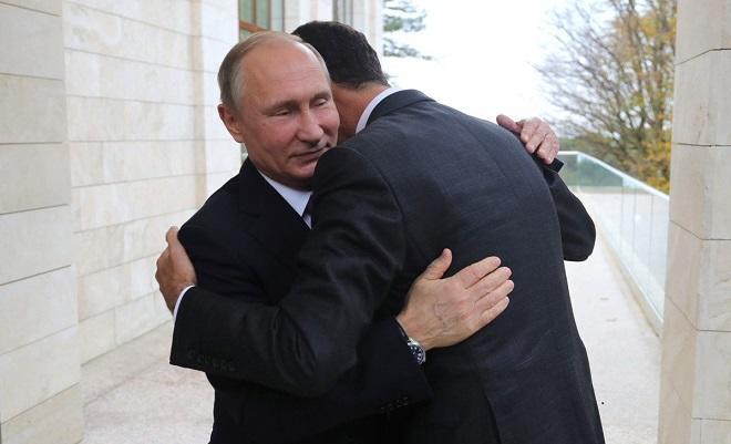 بشار اسد پوتینی تبریک ائتدی