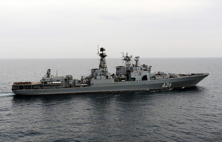 Russia's Black Sea Fleet warships hold drills