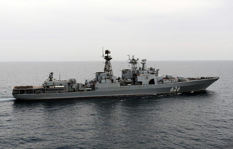 Russia's Black Sea Fleet warships hold drills