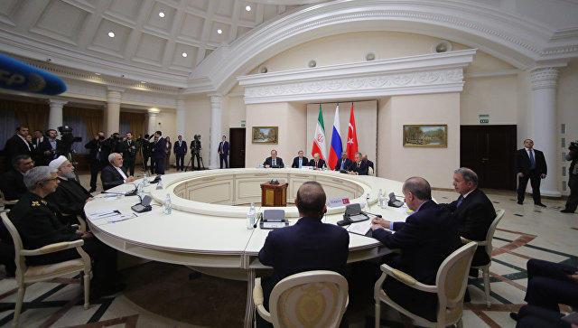 Лидеры России, Ирана и Турции обсудили Сирию - Обновлено