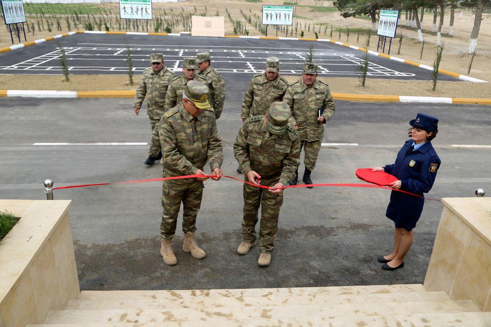 Zakir Həsənov HHQ-nin yeni kompleksinin açılışında - Foto