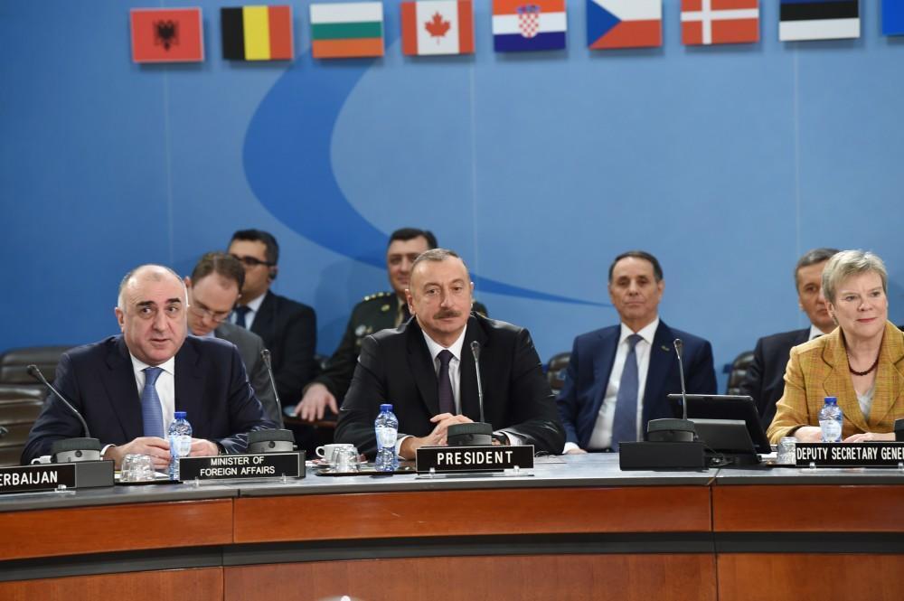 Ильхам Алиев на заседании НАТО