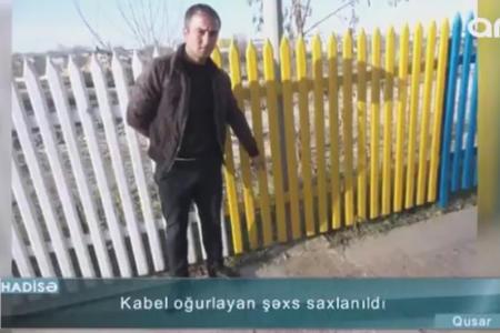 Keçmiş məhkum avtomobil körpüsünü işıqsız qoydu - Video