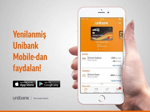 """""""Unibank""""ın mobil əlavəsi daha interaktiv və dinamik oldu"""