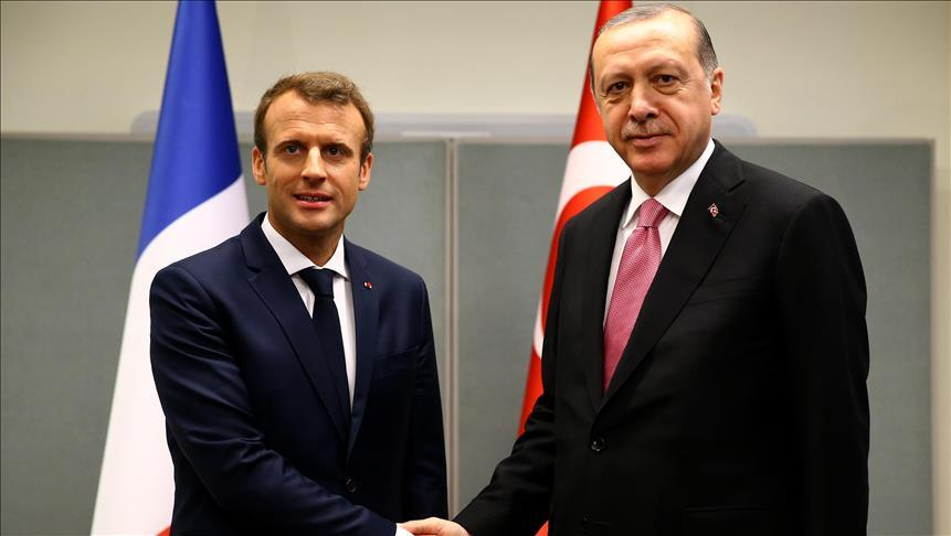 There was a meeting between Macron and Erdogan