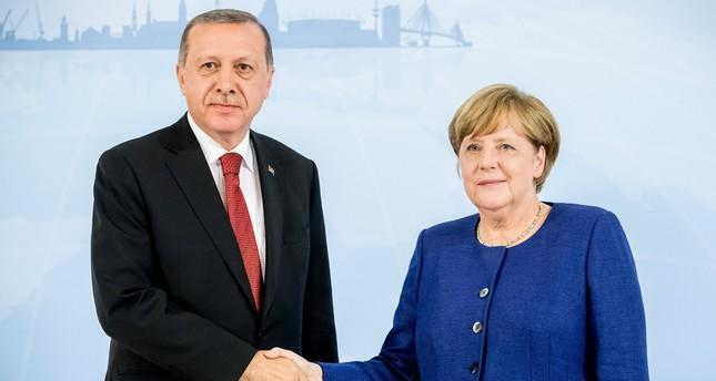 Erdogan discussed with Merkel