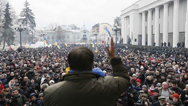 Сторонники Саакашвили митингуют перед судом