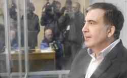 Saakaşvili məhkəmədə Gürcüstan himnini oxudu - Video