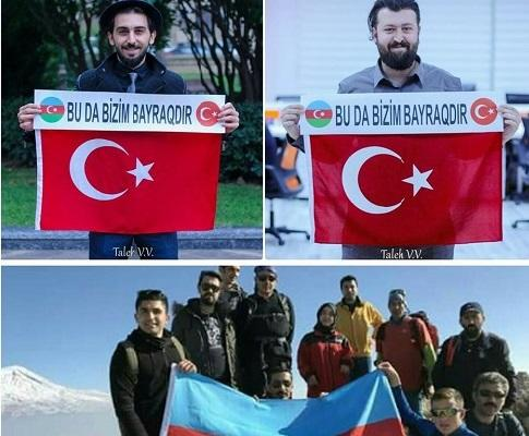 Azərbaycana Türkiyədən cavab: Bayrağımız… - Foto