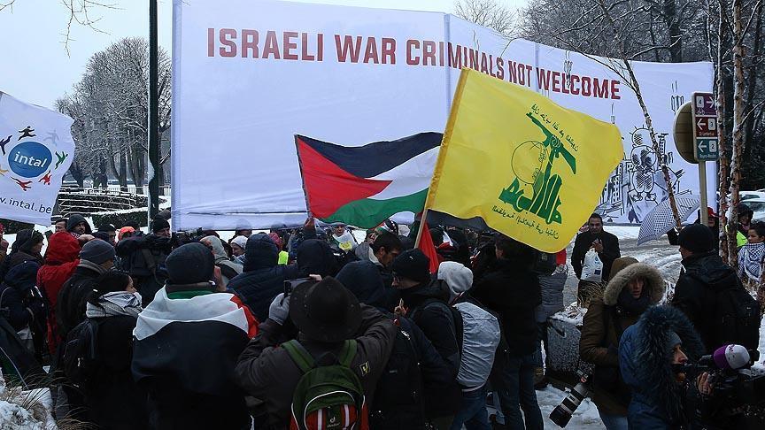 В Брюсселе протестуют против визита Нетаньяху